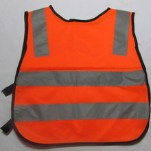 FGHGF Новое поступление детали Детская безопасность жилет серый светоотражающие полосы трафика одежда зеленый оранжевый(China)