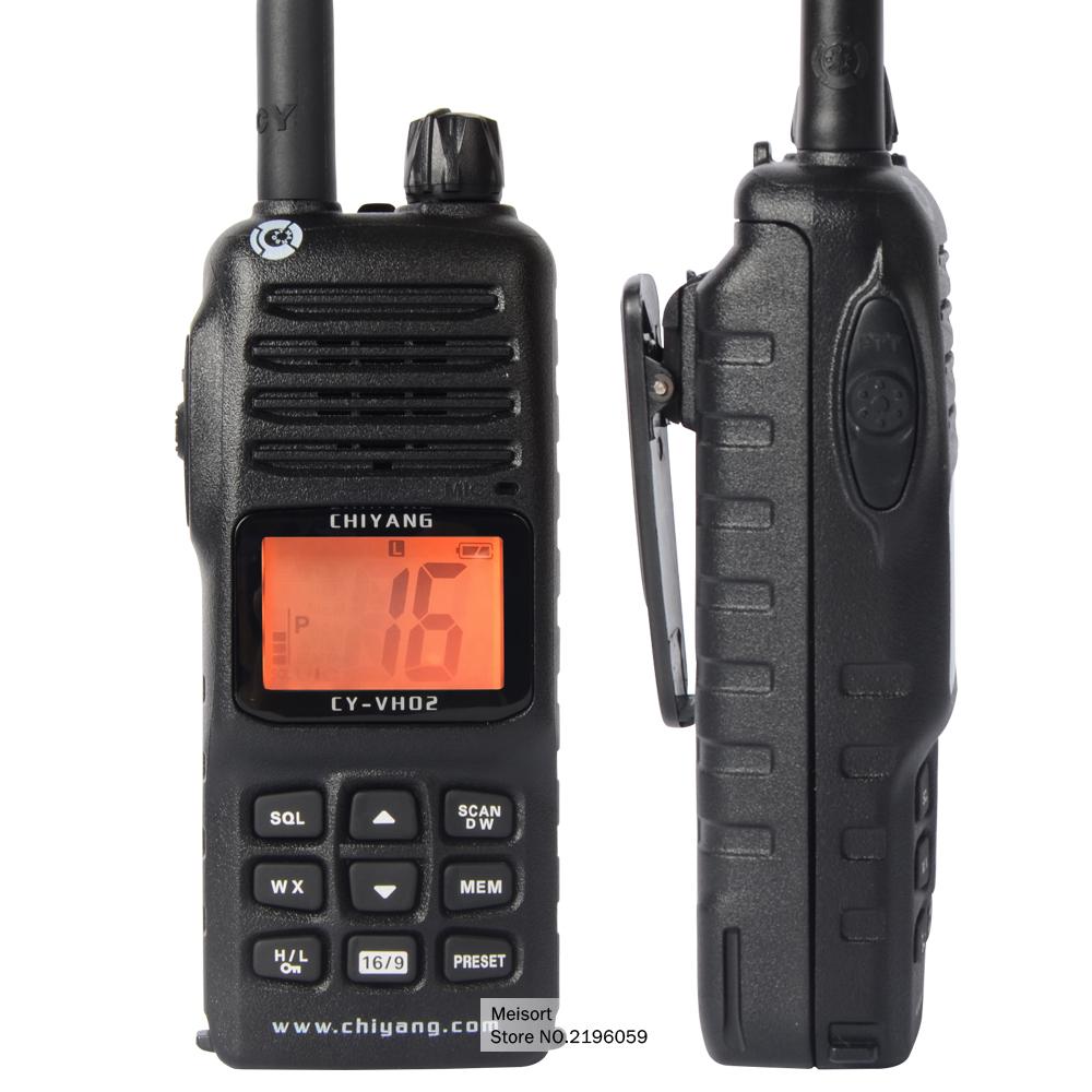 Brand Portable Waterproof Walkie Talkies Long Range Two Way Radios Handheld VHF Marine Radio for Boats 2 Way Marine CB Radio(China (Mainland))