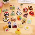 2016 New 1 PCS Kawaii Cute Cartoon Badges Acrylic Pin Badge Decoration Backpack Broochs Decorative Brooches