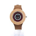 BOBO BIRD J10 Fashion Unisex Bamboo Watch Gift For Men UV Priting Colorful Dial Quartz Mens