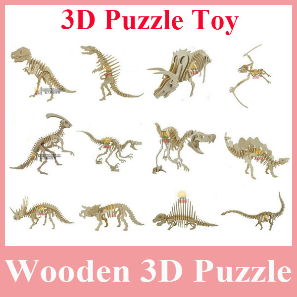 1Dinosaur 3D Puzzle Wooden Animals Toy Kid's, Toy, DIY - China FDN Top Seller store