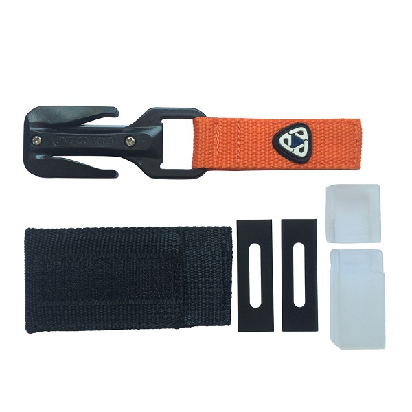 Buy EZDIVE KF-SZ Scuba Diving Knife Professional Two Sides Line Cutter with 2Pcs Replacement Blades With Corrosion Resistant Coating cheap