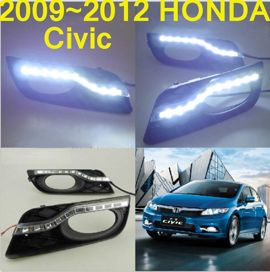 Free ship!2009~2012 Civi car LED daytime running light,2pcs/SET(1pcs Left+1pcs Right+wire of harness),6000~7000K