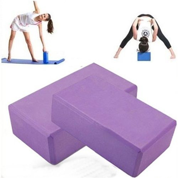 Retail Yoga Block: 9*6*3 inch Brick Pilates EVA Foaming Foam Roller Home Exercise Practice Fitness Gym Body Building Sports Tool - Early store