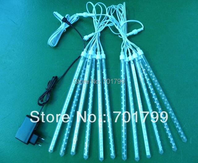 led meteor light,10pc tubes/set,60cm long,26mm diameter+1 Pcs power supply +1 pcs 8 M Guide wire + 2 pcs 5 M T-type wire)