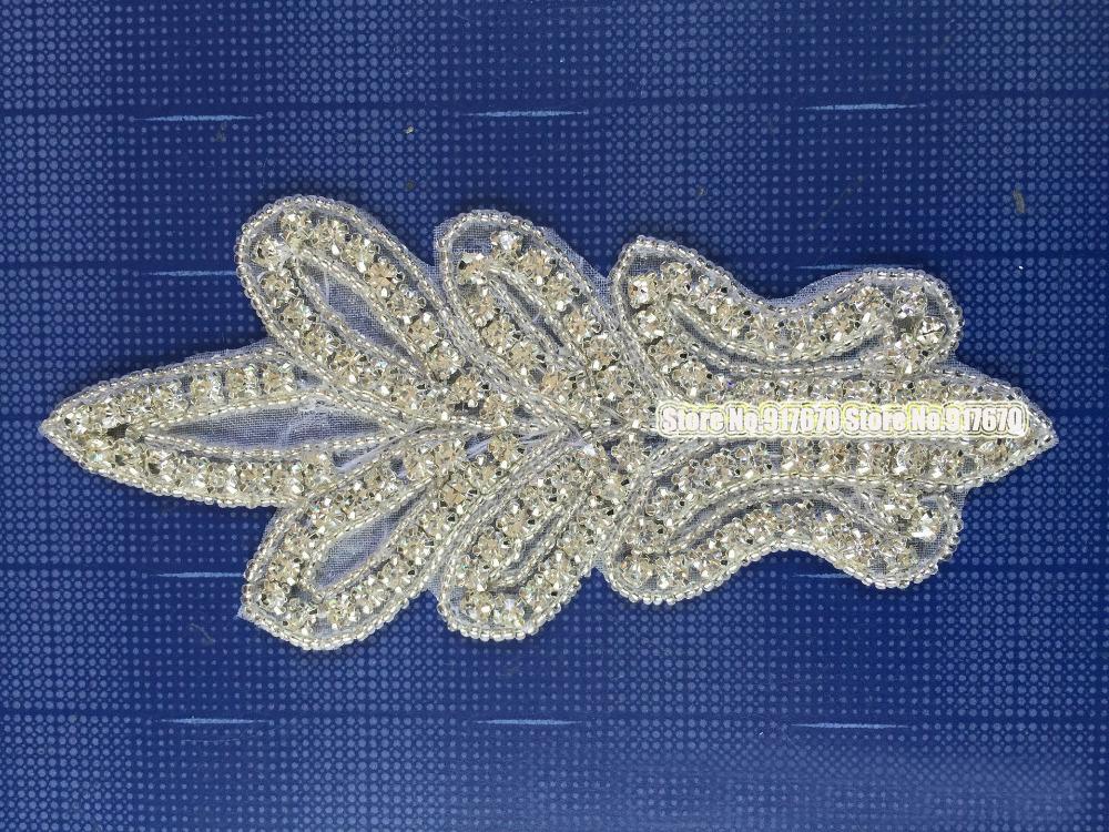 Fashion Handmade sew on Rhinestone Patches for Clothing 10pieces/lot Very Shiny bayern munich(China (Mainland))