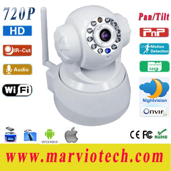 P2P Cloud HD 720P Night Vision IR CCTV wi if ip Camera WiFi Wireless IP Cameras Pan Tilt Security System, Free Shipping(China (Mainland))