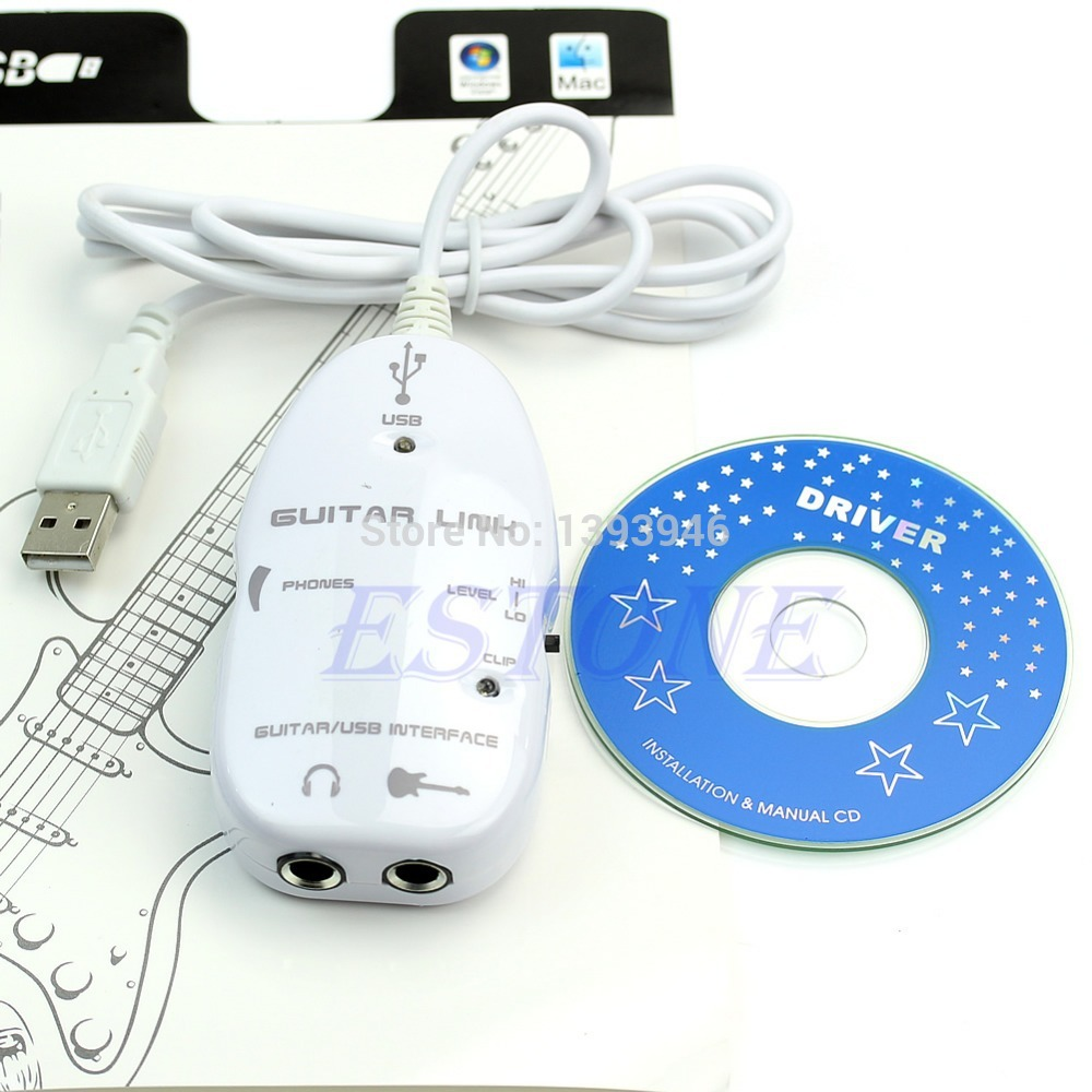 U119 Free Shipping Interface USB Audio Link For MAC/PC MP3 Recording XP Electric Guitar to Cable(China (Mainland))