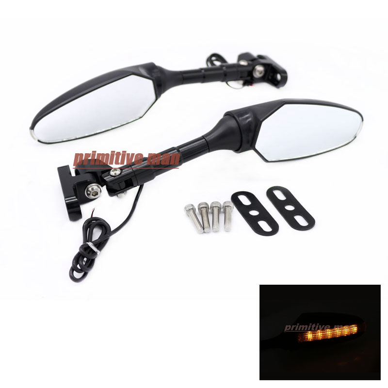 Фотография For TRIUMPH DAYTONA 675 2006-2015 Motorcycle Accessories Adjustable LED Turn Signal Light Rear View Mirror