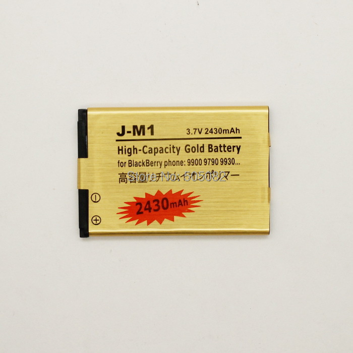 2430mAh new extended replacement gold high capacity BATTERY for Blackberry BOLD 9900 9930 TORCH 9860+free shipping(China (Mainland))