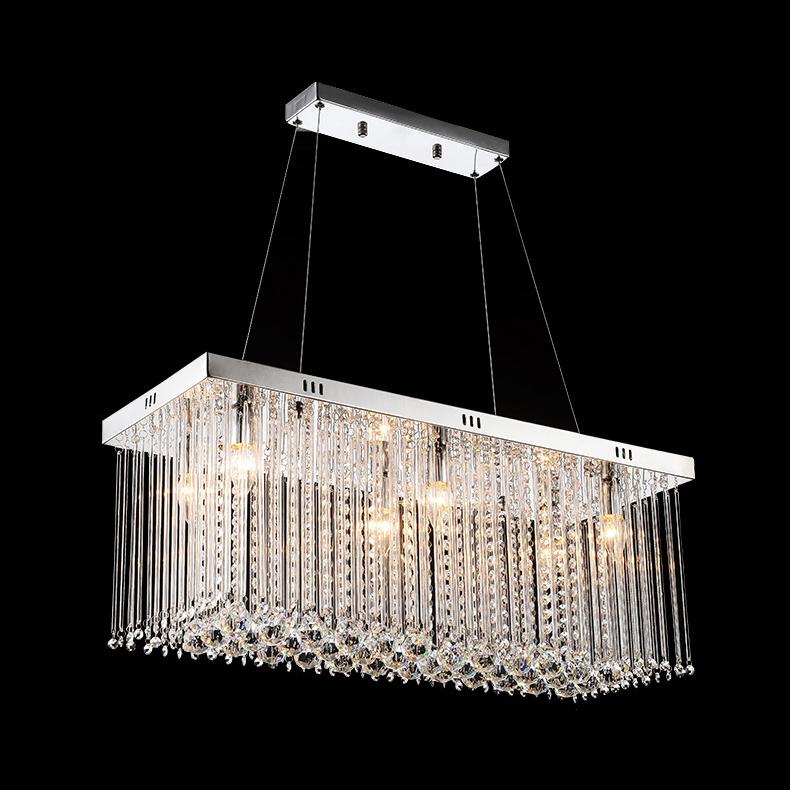 Rectangle design modern crystal chandelier for dining room fashion new arrival bar hanging - Crystal hanging chandelier ...