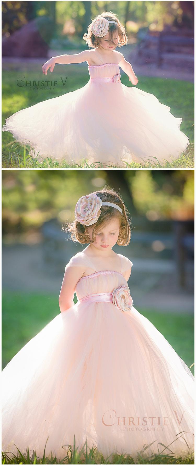 Скидки на Дети свадебное платье длинные темно-2017 плюс размер малышей девушки принцесса синий белый розовый цветок платья бальное платье высокое качество