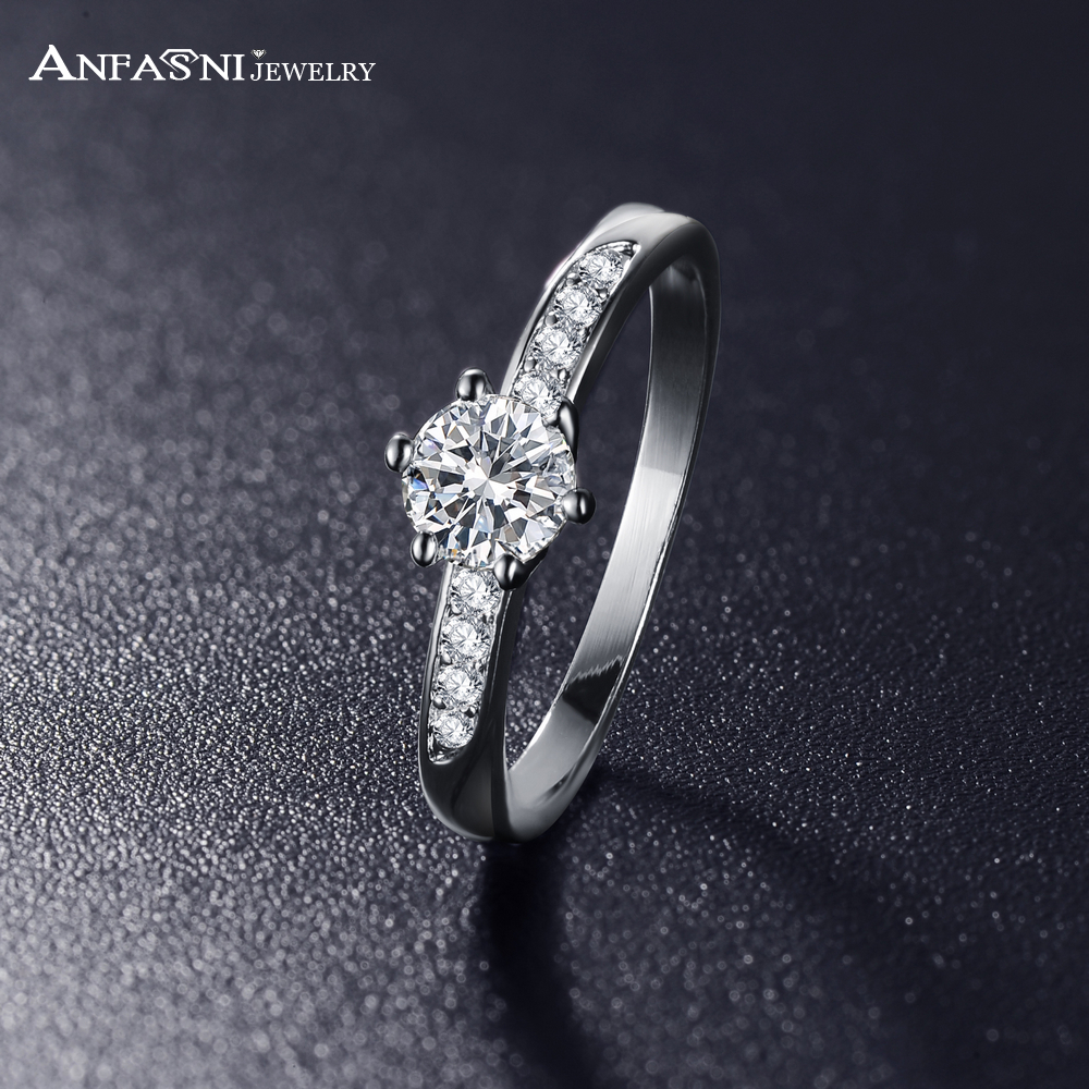 aliexpress buy wedding rings real platinum plated