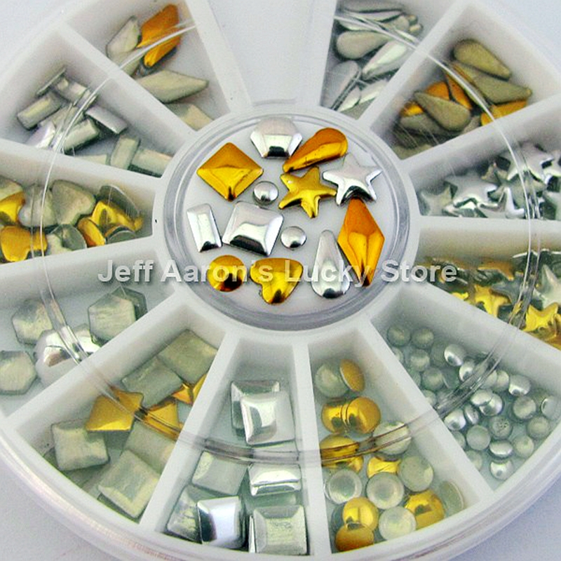 3d acrylic metal nail art decoration rhinestones wheel for Acrylic nail decoration supplies