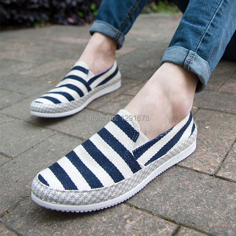 Free shipping canvas men shoes stripe men Sneakers 3 color<br><br>Aliexpress