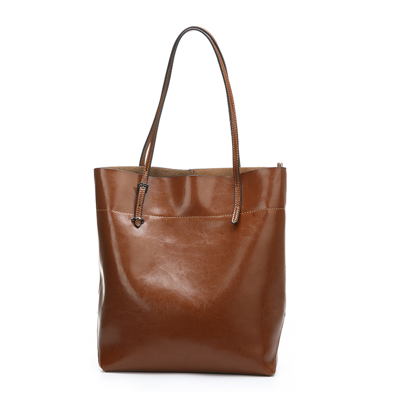 Free shipping Ladies' handbags leather bread vertical red coffee brown black dark blue leather shoulder bag 52(China (Mainland))
