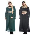 New Arrival Muslim Chiffon Embroidery long dress for Women Malaysia abayas in Dubai Turkish clothing high