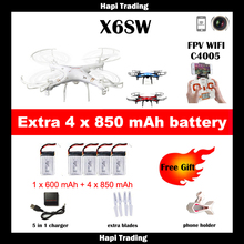 X6sw WIFI Toys Camera rc helicopter rc drone fpv quadcopter gopro professional drones with camera VS X600 x4 Drone with C4005(China (Mainland))