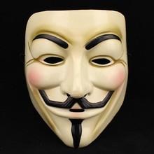 1 STÜCKE Heiße Verkaufende Partei-schablonen V Wie Vendetta Maske Anonymous Guy Fawkes Abendkleid-erwachsene Kostüm Haar-accessoire Partei Cosplay Masken(China (Mainland))