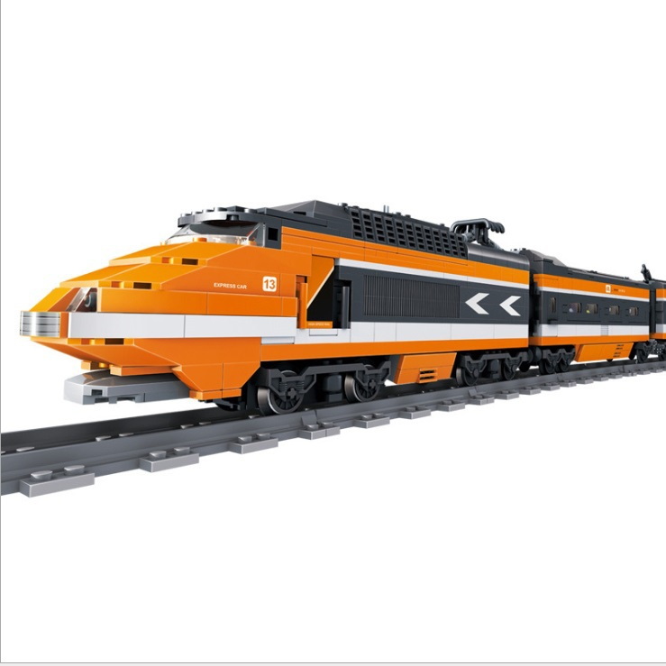 New GBL Battery Powered Electric The Sky High-Speed Train Building Block Toy 98201 1260PCS Compatible with all brands(China (Mainland))