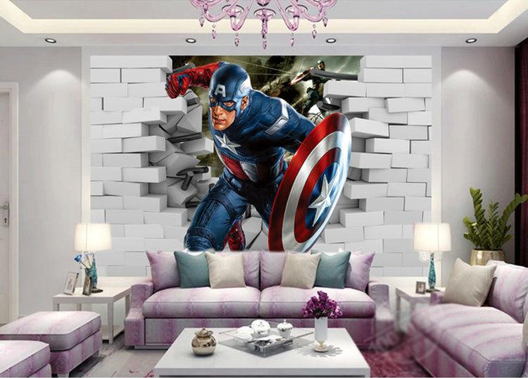 Buy 3d captain america wallpaper avengers for Cool wall mural