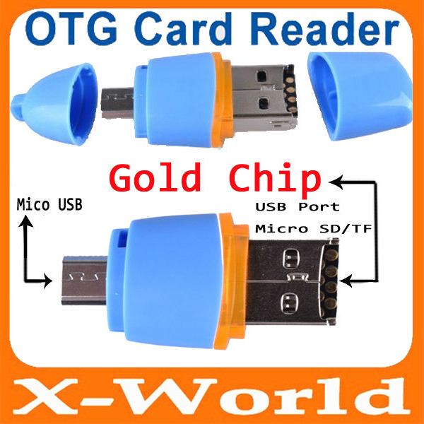 Manufacture Directly Micro usb otg Card Reader for Cellphone PC Android Smartphone samsung Galaxy Support micro SD Card(China (Mainland))