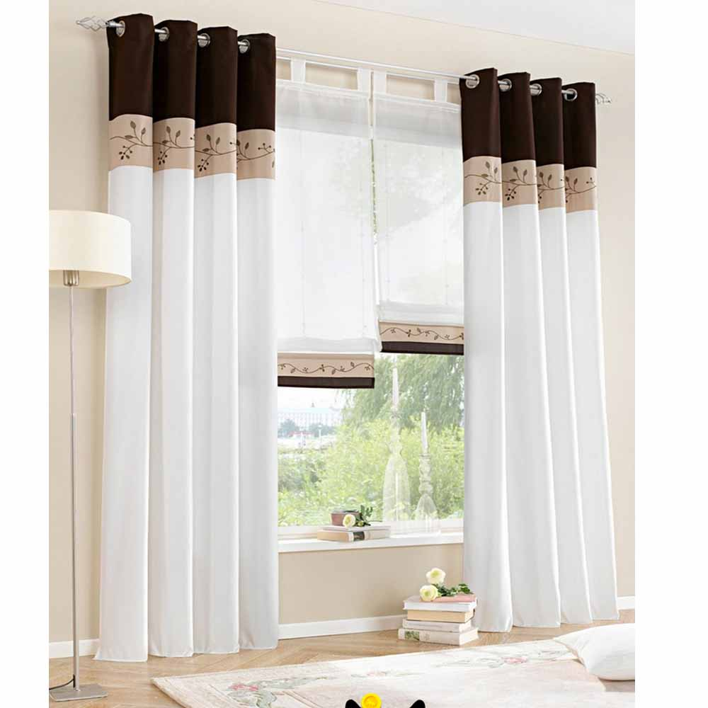 1 piece only 2015 new white living room curtains bedroom window curtain screaaning modern - Modern living room curtains photos ...