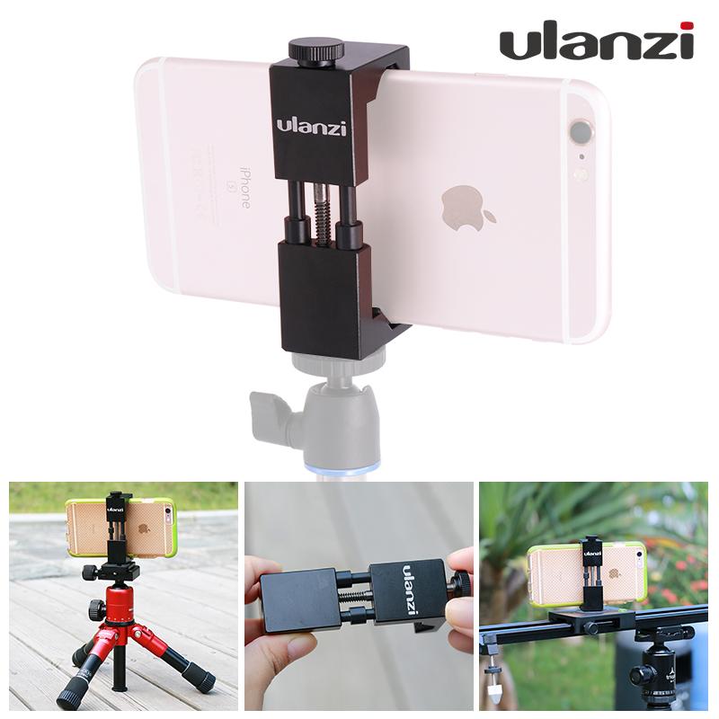 Ulanzi Smartphone Tripod Mount Aluminum Universal Metal Phone Tripod Adapter for iPhone 7 & iPhone 7 Plus Android Smartphones(China (Mainland))