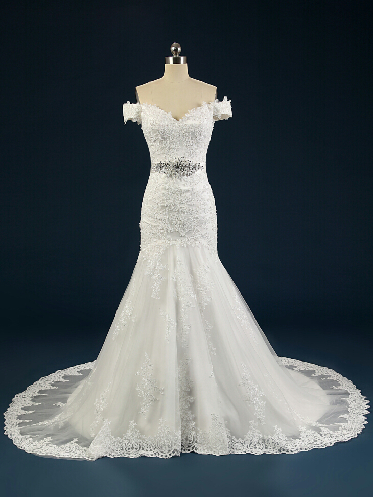 Buy summer style real picture church lawn for Wholesale wedding dress suppliers