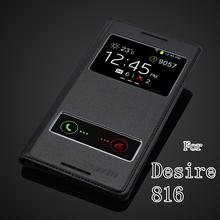 Чехол HTC Desire кожа, роскошь книга дизайн полиуретан откидной чехол для 816 800 D816W телефон держатель мешок задняя часть