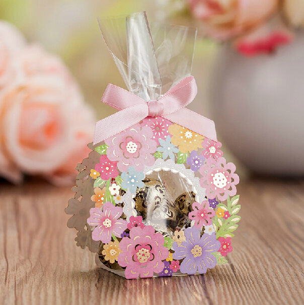 New arrival flower candy bag floral guest sugar luxury New flower decoration