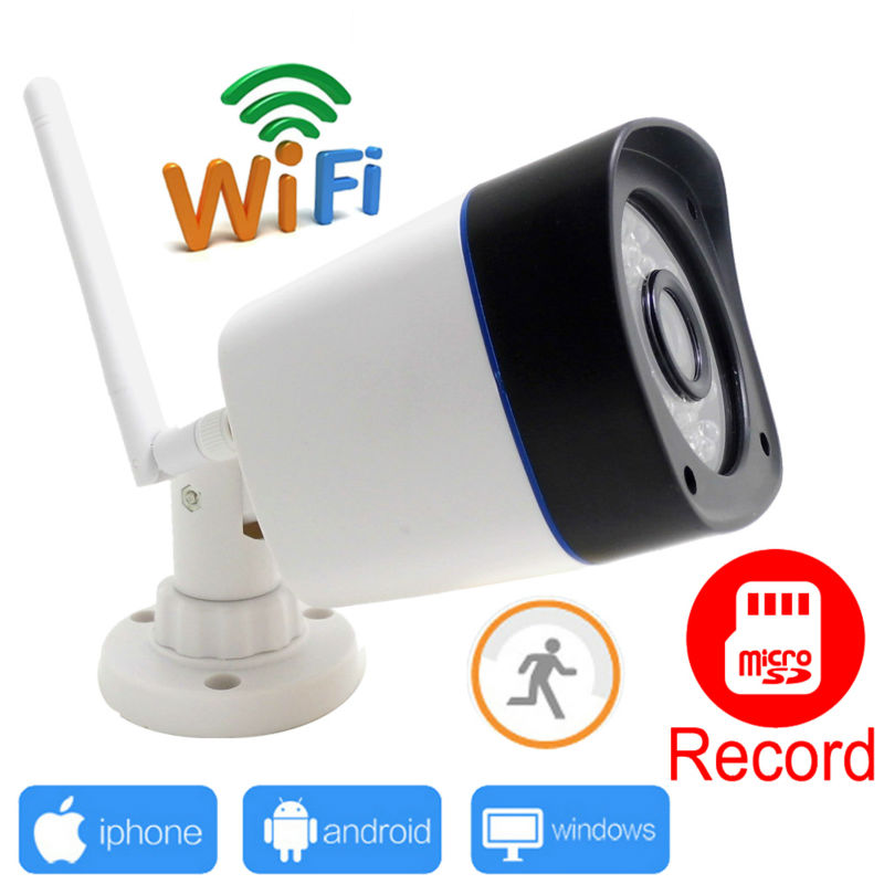 ip camera wifi 720p wireless outdoor waterproof weatherproof cctv security support micro sd record ipcam system wi-fi cam home(China (Mainland))