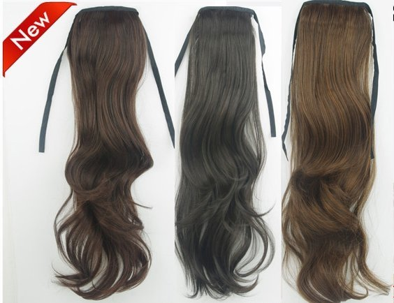 "22"" 75g New Claw Ponytails loose curls Synthetic hair 3 colors for choice(#1B natural black,#2t33 deep brown,#2t30 light brown)"