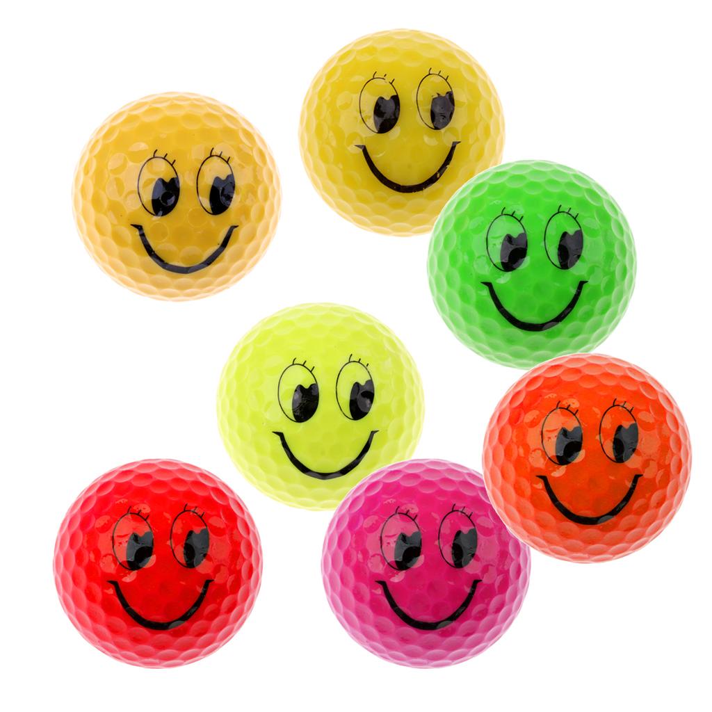 Bright Color Smile Face Training Golf Balls Golf Accessories Training Tournament Golf Balls Set