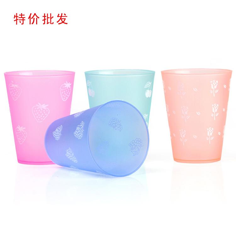 Glass plastic child beverage advertising juice scrub plastic pp cup flower(China (Mainland))