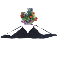 high quality cotton C/D CUP wire free  front open black plus size maternity nursing bra/big size breastfeeding bra for pregnant