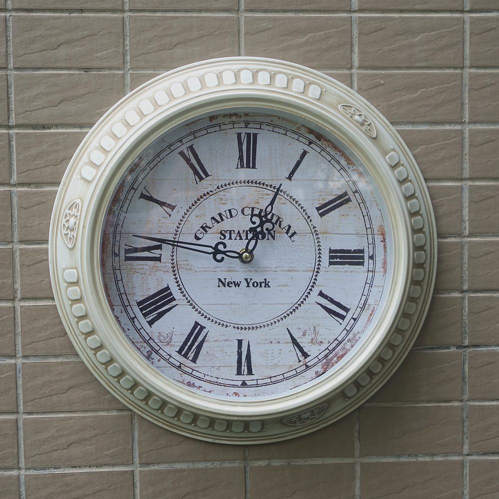 "Handmade 14"" Fashion single rustic vintage antique big iron wall clock,wall watch on the wall(China (Mainland))"
