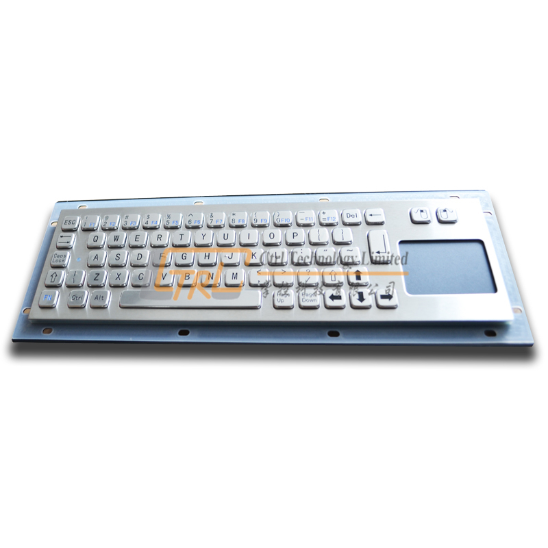 Metal keyboard with touchpad, industrial waterproof keyboard, custom kiosk keyboard(China (Mainland))