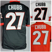 FREE SHIPPING #27 Nick Chubb Jersey ,BLACK / RED / WHITE Georgia Bulldogs Football Jerseys Cheap, Sewn On,Size M-XXXL(China (Mainland))