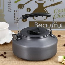 Aluminum 1.1L large capacity Portable exquisite Coffee Pot Scratch and Corrosion Resistant Water Kettle Teapot with Mesh Bag(China (Mainland))