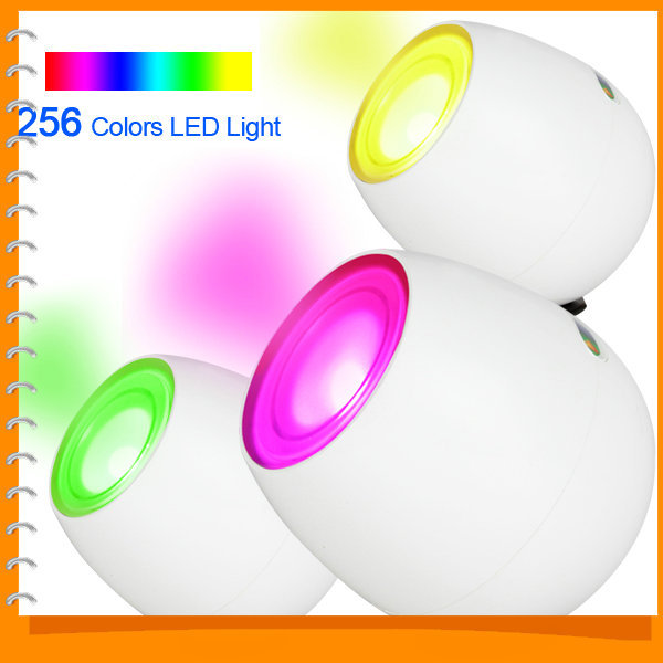 New Fashion Rechargeable Digital 256 Colors Living Color LED Mood Lighting Night Light Table Lamp Touchscreen(China (Mainland))
