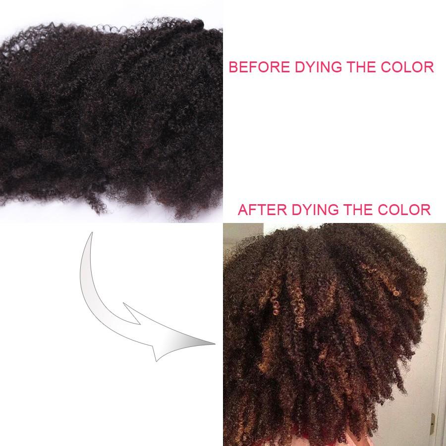 Clip In Human Hair Extensions Brazilian Virgin Hair Afro Kinky Curly Clip In Hair Extensions Natural 4B 4C Kinky Curly Clip Ins