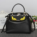 FOXTAIL LILY Fashion women genuine leather handBag Peekaboo Female Mini Tote Monster Eyes Shoulder Bags Famous