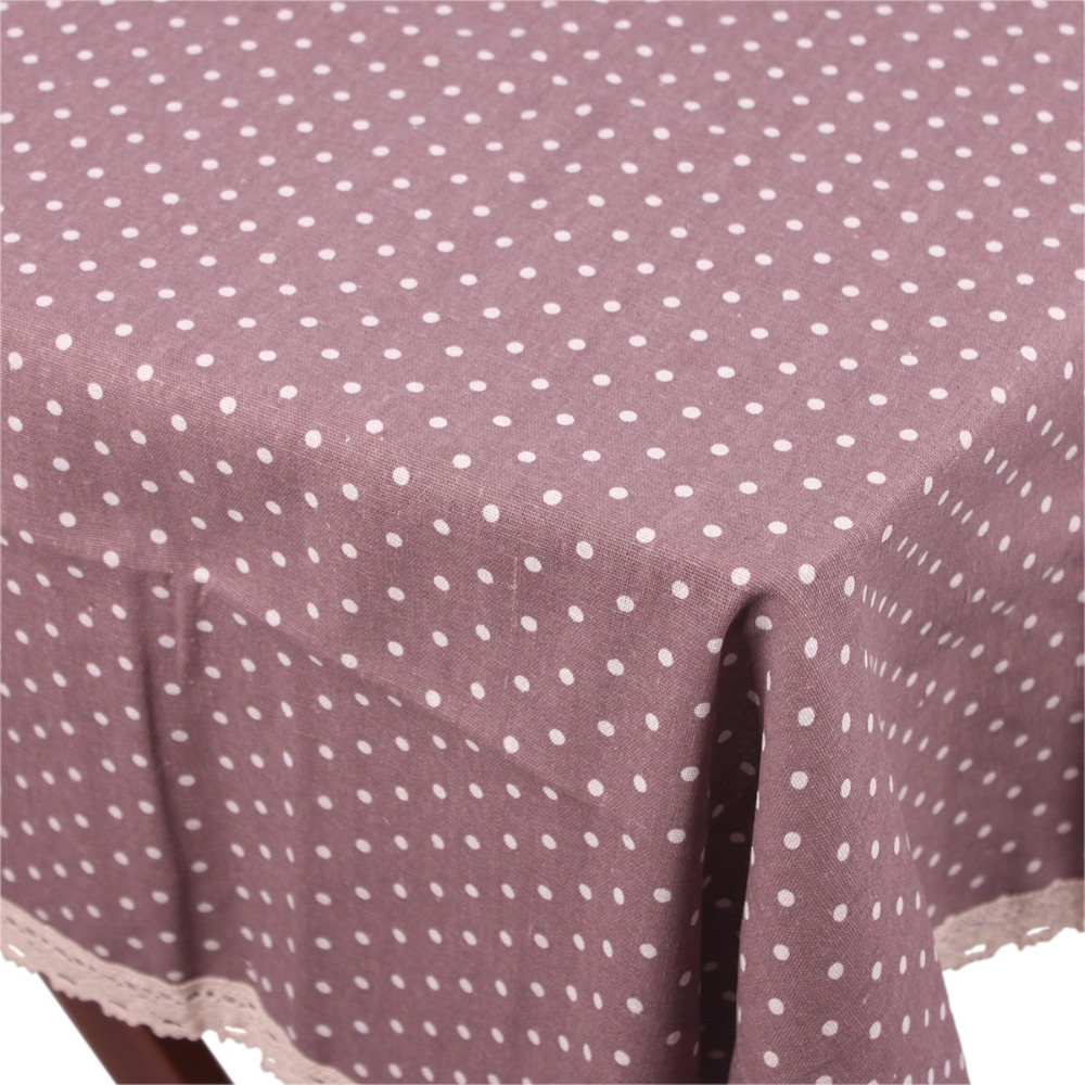 New ZAKKA Japan Korea Style Cotton Linen Table Cloth / Pink Purple Blue Green Four Colors Summer Lace Tablecloth on the Table(China (Mainland))