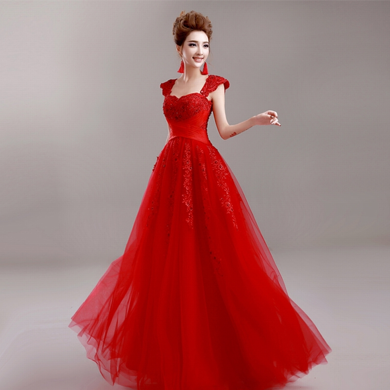 Red evening dress size 22