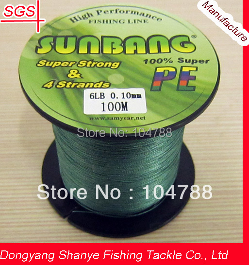 Free Shipping 8/10LB 3 Strands 100M Wholesale Factory Price PE Braid Fishing Line -- SUNBANG