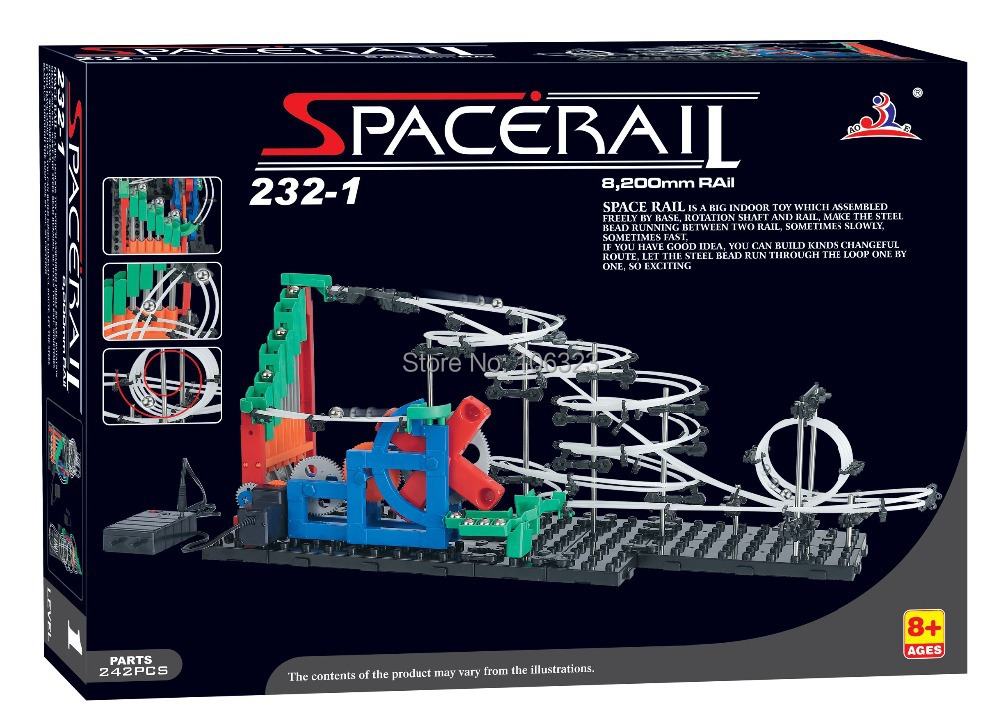 Wholesale New arrival Second Generation Space Rail Toys, Roller coaster Level 1, Overspeeding SpaceWrap, Hot Model Building Kits(China (Mainland))