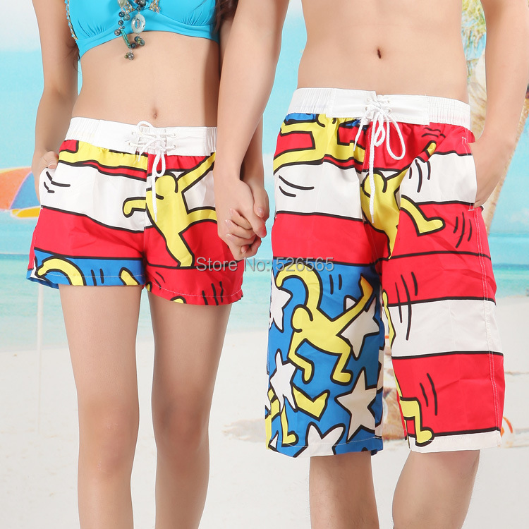 2015 Men Women Print Lovers Couple Beach Shorts Swimming Short Surf Boardshorts Sport ST14 - Laid-back station store
