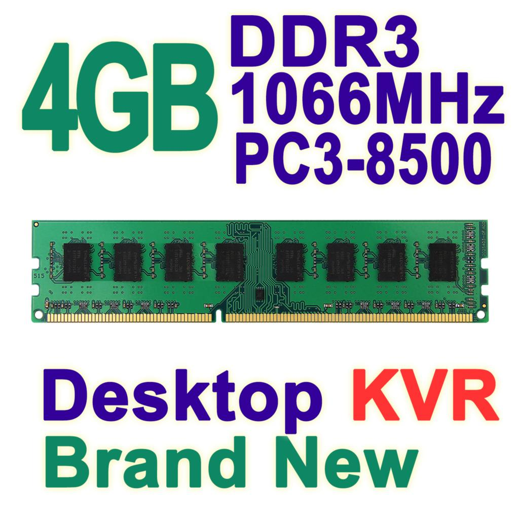 4GB Single DDR3 1066MHz 240-pin DIMM PC3-8500 Non-ECC CL7 Computer Desktop Memory RAM For AMD Only Brand New KVR<br><br>Aliexpress