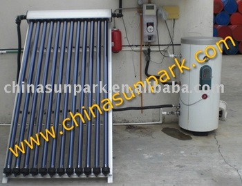 solar collector for water heater with 500L storage boiler double coil heat exchanger